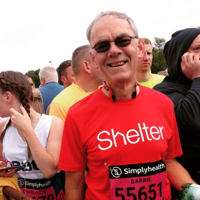 Barrie at the start of the Great North Run